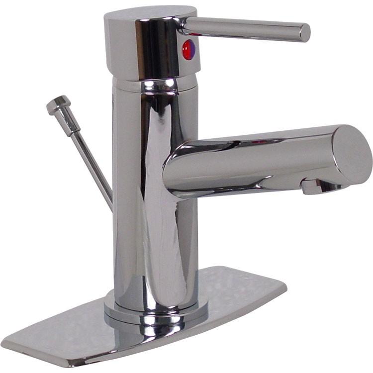 Mezcladora monomando con cubierta para lavabo 303 rl for Monomando para bano