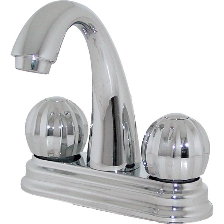 Mezcladora para lavabo con cubierta de lat n con cartucho for Llaves mezcladoras para lavabo urrea