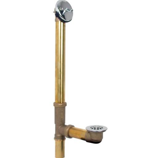 Desagüe de bronce para tina, cierre de presión - 22-IB