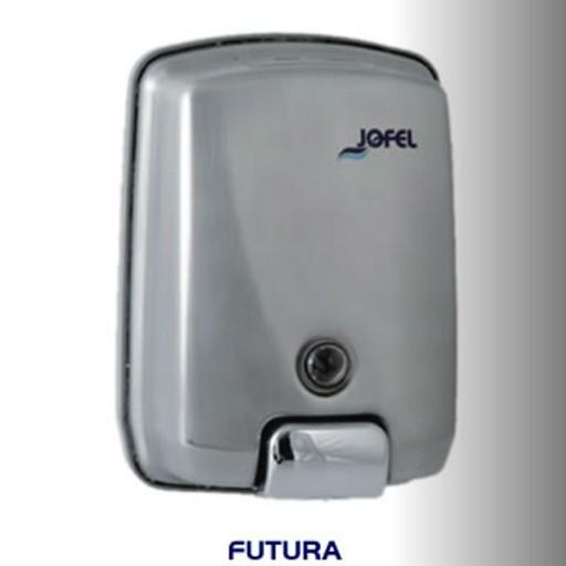 Dispensador de jabón rellenable color satinado con capacidad de 1000 ml - AC54000