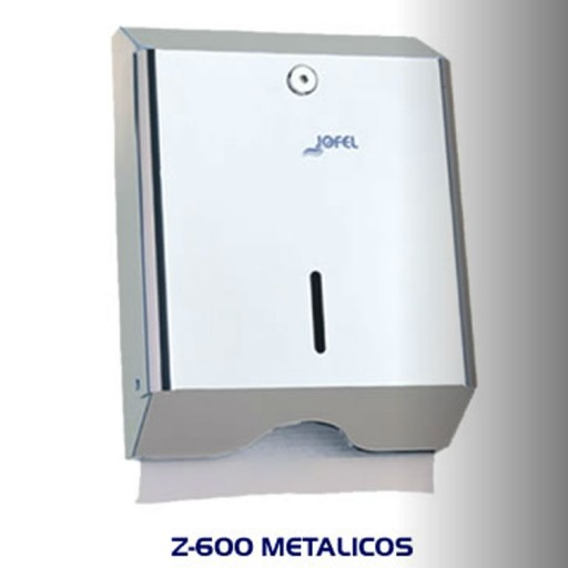 Dispensador de toalla Interdoblada metálico, color inox brillo  - AH14000