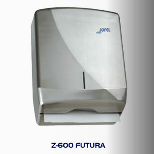 Dispensador de toalla Interdoblada metálico, color satinado - AH25000