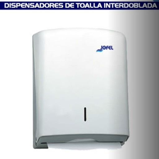 Dispensador de toalla Interdoblada color blanco, - DT33001