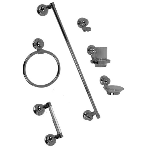 Juego de accesorios Asia para empotrar en acabado cromo - J50-CC