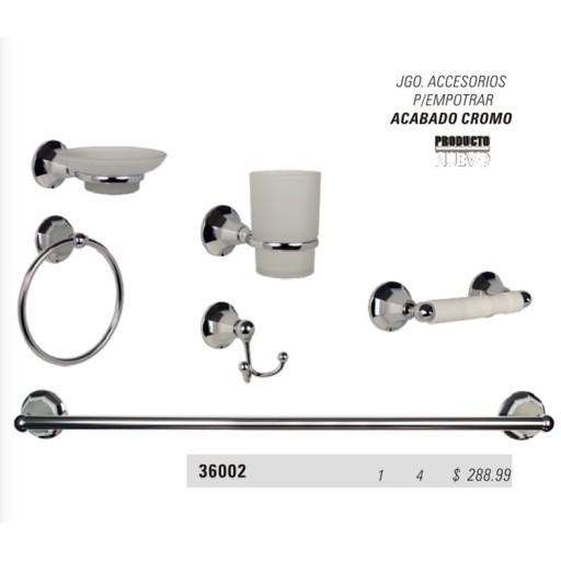 Kit accesorios para empotrar acabado cromo - 36002