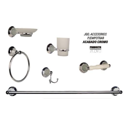 Kit accesorios para empotrar acabado cromo - 36004