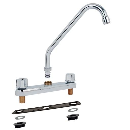 Mezcladora para fregadero al piso con cubierta y manerales - 11001