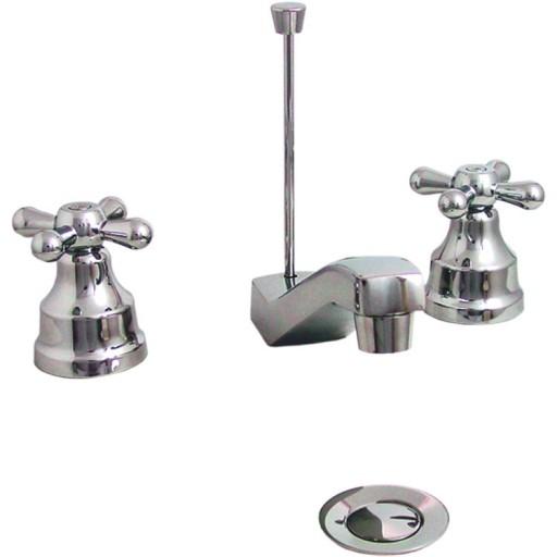 """Mezcladora para lavabo de 8"""" a 12"""" con cartucho con desagüe - 19-IC"""