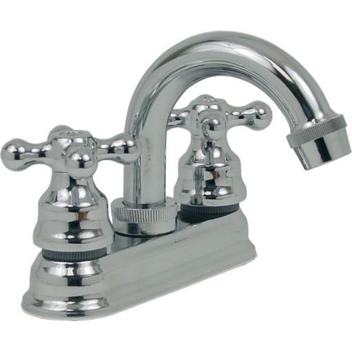 Mezcladora para lavabo de cierre a compresión con cubierta - 24-TH