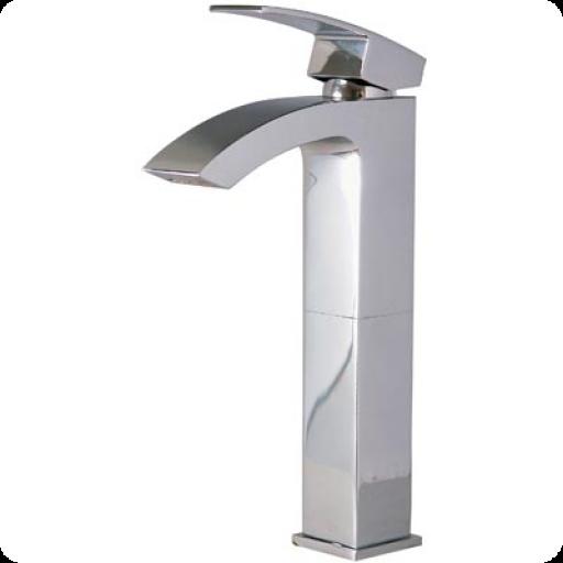 Mezcladora monomando, alta, para lavabo, línea ÓNIX - O110