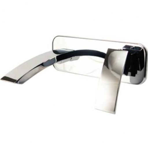 Mezcladora monomando para lavabo, a la pared, línea ÓNIX - O130