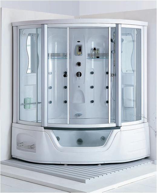 Cabina de hidromasaje y vapor con calentador y burbujas for Affitti cabina michigan con camino