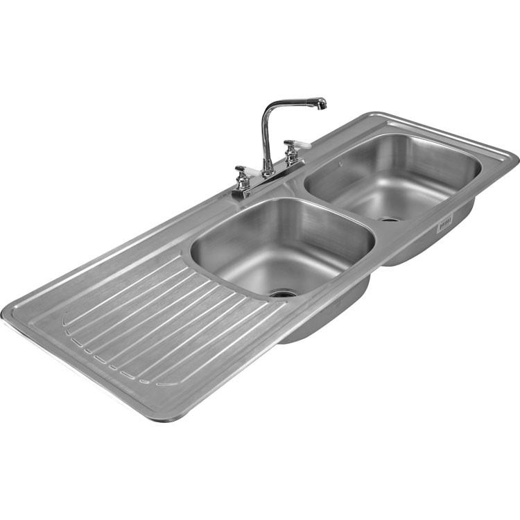 Fregadero de acero inoxidable para empotrar escurridero c 211 Articulos de cocina de acero inoxidable