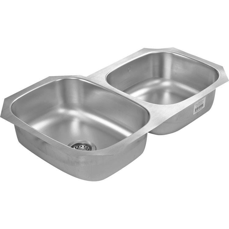 Fregadero de acero inoxidable para submontar de doble tina - Fregaderos de granito para cocina ...