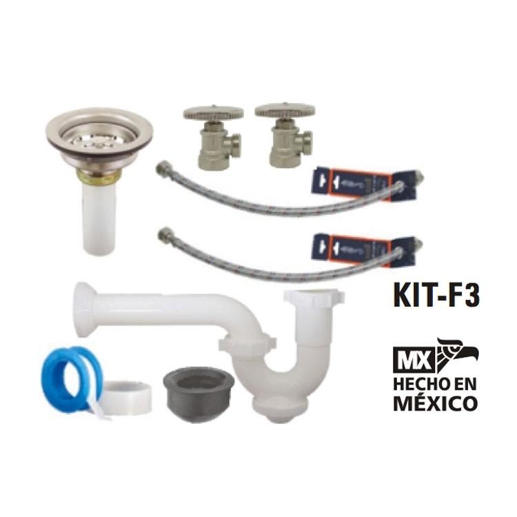 Kit de instalaci n para mezcladora de fregadero kit f3 for Accesorios para llaves de agua