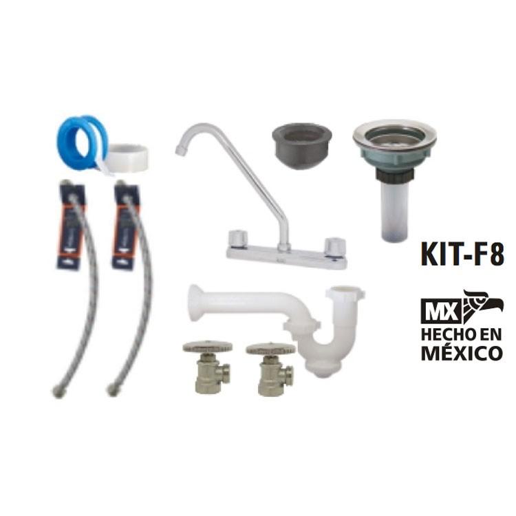 Kit de instalaci n para mezcladora de fregadero kit f8 for Llave mezcladora helvex