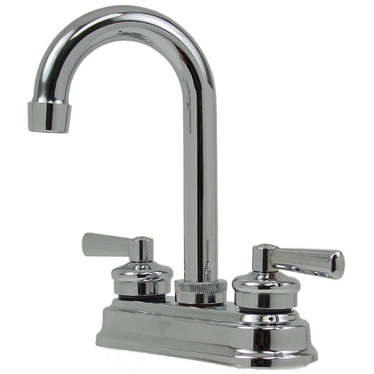 Mezcladora para bar de 4 cubierta de lat n y pico for Llave mezcladora para lavabo