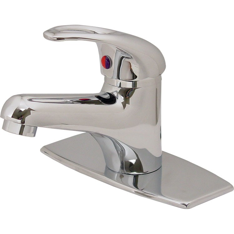 Monomando para lavabo con cubierta de lat n cromo 24 mc for Llaves de lavamanos