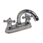 Mezcladora para lavabo, cuerpo de bronce, cartucho cerámico - 21053