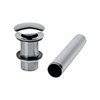Contra para desagüe con sistema push para lavabo sin rebosadero th 065