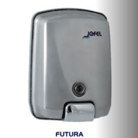 Dispensador de jabón rellenable color satinado con capacidad de 1000 ml - AC54000