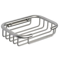 Jabonera rectangular de rejilla de acero inoxidable rej 01 ai
