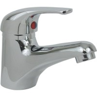 Monomando para lavabo sin cubierta de latón cromo - 24-MCS